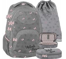 Mädchen Schulrucksack Schulranzen Rucksack 3 Tlg. Schulset Federtasche Ranzen