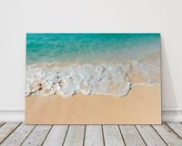 tropical beach sand and sea canvas print framed picture wall art