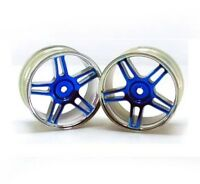 Redcat Racing 02228pb Chrome 5 spoke split spoke blue anodized wheels 02228PB