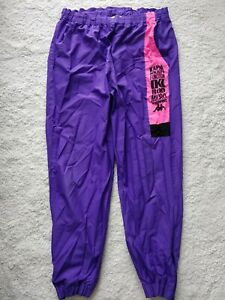 Kappa Italy 90's Vintage Multi Function Mens Track Pants Trousers Purple Hype