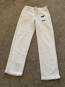 NWT Hollister Men's S Logo Graphic Straight-Leg Sweatpant Off White