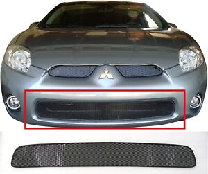 CCG MESH GRILL INSERT FOR 06-08 MITSUBISHI ECLIPSE DIAMOND GRILLE BUMPER BLACK