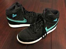 AIR JORDAN 1 RETRO HIGH BG Nike Athletic Shoes Black Teal Mens/Youth Boys 7 EUC