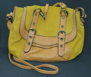 Abaco Paris Mustard Leather Shoulder/Crossbody Bag - New with tags & dust bag