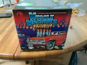 NIB Muscle Machines 1:18 41 WILLYS COUP NEW IN BOX