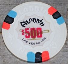 $500 VINTAGE 9TH EDT GAMING CHIP FROM THE ALADDIN CASINO LAS VEGAS R8