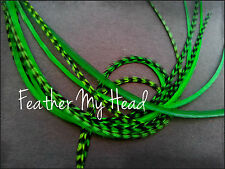 "Feather Hair Extension Long 9""-12"" (23-30cm) 10 Pc  Grizzly / Solid Mix"