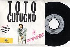 TOTO CUTUGNO disco 45 giri LE MAMME made in GERMANY 1989 Sanremo