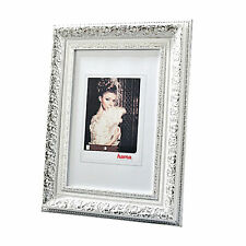 """Bilder-Rahmen """"Elba"""" Weiß-Silber Fotorahmen Porträtrahmen von Hama"""
