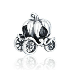 Cinderella Pumpkin Carriage Charm Bead - 925 Sterling Silver - Fashion Design