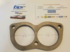 "BA BF FALCON GT XR8 2.5"" 63MM 3 BOLT TWIN PORT FLANGE PLATE STAINLESS STEEL 8mm"