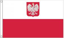 More details for poland crest nylon flag large 5 x 3 ft - hard wearing best quality 100%