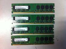 4x1gb 4gb ddr2 memoria 667 MHz RAM pc2-5300u 240 pin DIMM non-ECC