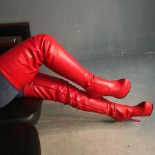 New Women Sexy Over the Knee Boots Platform Stiletto Heel Round Toe Hi Show Boot