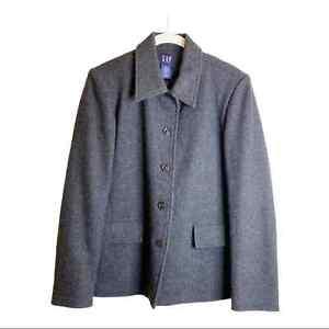 GAP Wool Blend Dark Gray Peacoat Mens Jacket Small
