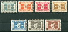 AD Württemberg 123 - 129  sauber postfrisch Dienstmarken Michel 50,00 € MNH