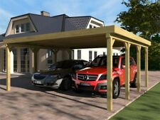 Carport Flachdach SILVERSTONE III 600x600 cm Bausatz Flachdachcarport