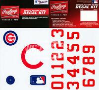 Chicago Cubs MLB Baseball Batting Helmet Rawlings Decal Kit