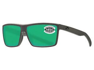NEW Costa Del Mar RINCONCITO Matte Gray / Green Mirror Polarized 580 Glass 580G
