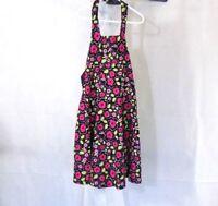 Bonnie Jean A-line Halter Dress Girls Size 8 Floral Black Pink Green Cotton
