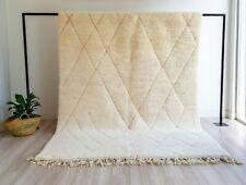 Authentic Beni ourain, Handmade Moroccan rug Wool Carpet, Berber Tapis white rug