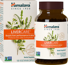 Himalaya LiverCare/Liv. 52 for Liver Cleanse and Liver Detox 375 mg, 180 Capsule