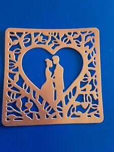 Rose gold Bride And Groom wedding Invite/card Die Cut Topper