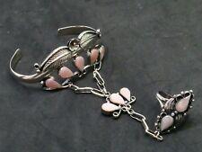 Armreif mit Ring bracelet 925 SILBER silver Armband braccialetto argent Perlmutt