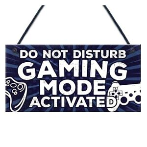 Kids Gaming Sign Gamer More Unlimited Lives Plaque X Box Playstation sign