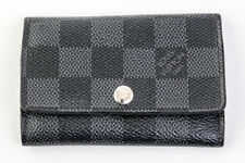 Auth Louis Vuitton Multicles 6 Key Case Damier Graphite N62662 #10225YER