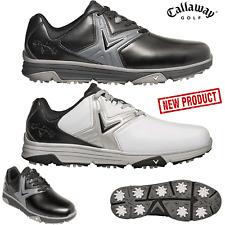 Callaway Zapatos de Golf Chev Confort Hombre Impermeable Nuevo Blanco o Negro