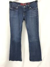 GUESS Premium Woman's Stretch Flare Distressed Jeans Size 21 Good Condition