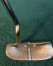 vintage Lynx Usa #5 brass head 36� putter with playable Tiger shark grip