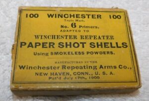 Two Antique Winchester Shot Shell Primer Boxes EMPTY