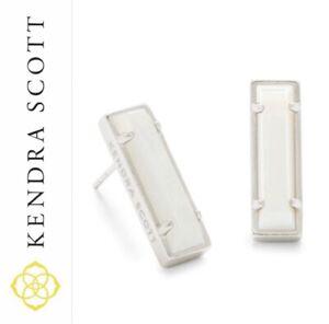 KENDRA SCOTT Stud Earrings LADY  Mother Of Pearl / SILVER MSRP $75