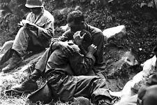 New 5x7 Korean War Photo: Soldier Comforts Grief-Stricken American Infantryman
