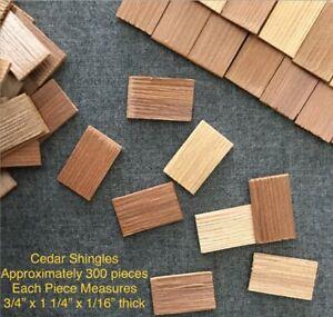 BIRDHOUSE CEDAR SHAKE SHINGLES 300 pc/ Raw Material Wood Roofing, Craft Supplies