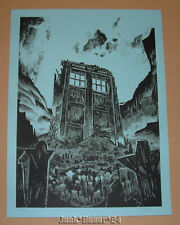 Tim Doyle The Fields of Trenzalore Dr Who Poster Print Blue Variant S/N Art