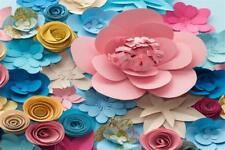3x2ft Background 3D Paper Floral Birthday Vinyl Photography Backdrop Studio Prop