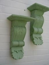 Wooden wall sconces hand carved