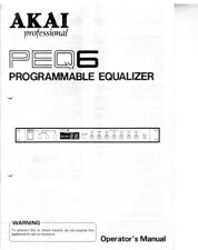 Akai PEQ6 Equalizer Owners Instruction Manual
