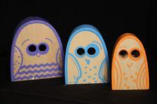 P'kolino Nesting Toys Wooden Wood Owls - Set of 3