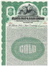 Atlantic Fruit & Sugar Co., 1924, Gold-Bond 1000$, uncancelled/ coupons