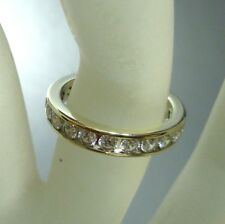 375/9K ORO ZIRCONIO Anello oro bianco anello a nastro 52 (16,5 mm Ø )