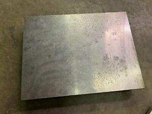 Vintage Machine Shop Cast Iron Surface Inspection Plate, Great Shape