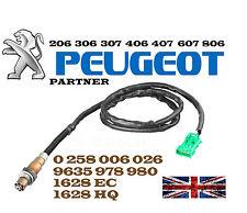 Oxigeno O2 Sonda Lambda Peugeot 206 306 307 406 407 607 806 socio 1628hq Nuevo
