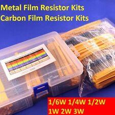 1/6W 1/4W 1/2W 1W 2W 3W Metal Film Resistor/Carbon Film Resistor Assortment Kits