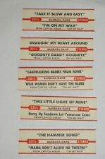 "Barbara Dane 7"" 33 JUKEBOX TITLE STRIP SET OF 5 for On My Way (I'm On My Way)"