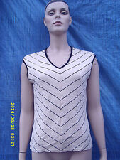 Unbranded V Neck Striped Plus Size Tops & Shirts for Women