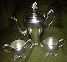 Vintage Eton Silverplate Tea/Coffee Set Creamer & Sugar Bowl set EUC